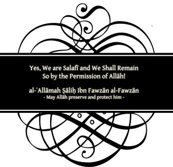 Yes we are Salafi
