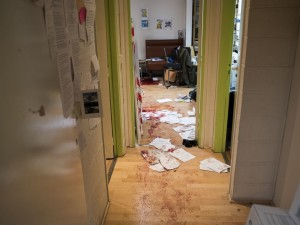 Aftermath of the shootings at the Charlie Hebdo newspaper in Paris, France